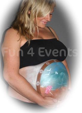 bellypaint zwanger buik schminken