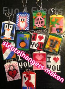 sleutelhangers maken pixel hobby