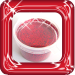 glitter poeder rood